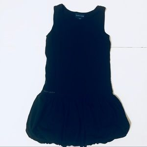 Ralph Lauren black sleeveless bubble hem dress